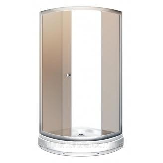 Душевой угол Miracle 92x92 см профиль хром стекло чайное