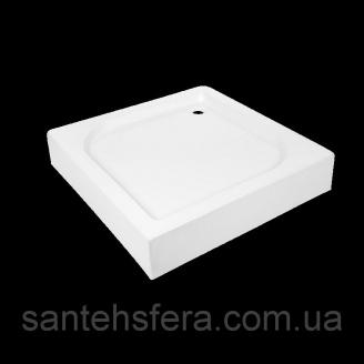 Акриловый поддон Invena Parla квадратный 15х80x80 см без сифона