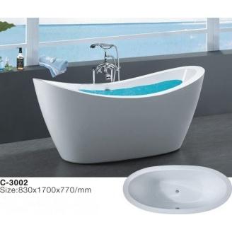Отдельностоящая акриловая ванна Atlantis C-3002