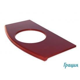 Стільниця з литого мармуру каменю Snail Грація 900х500 мм