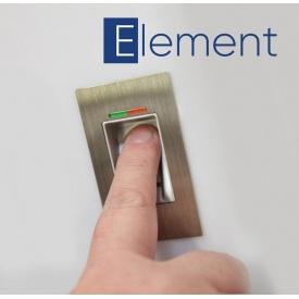 Двері вхідні автоматичні Kommerling 1000х2100 мм зі сканером відбитка пальця або смартфона