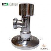 """Кран кутовий приладовий вентильний ALBERTONI 1/2""""x1/2"""" для підключення бойлерів та унітазів"""