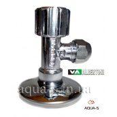 """Кран кутовий приладовий вентильний ALBERTONI 1/2'x3/8"""" для підключення змішувачів"""