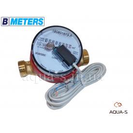 """Лічильник води імпульсний BMeters GSD8-R сухий хід DN 20 G 1"""" база 130 мм ГВ"""
