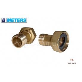 """Комплект штуцерів для підключення лічильника 3/4""""x1/2"""" латунь BMeters"""