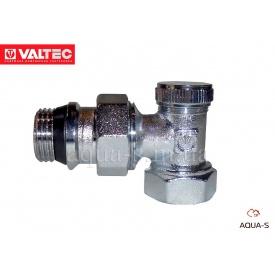 """Клапан радиаторный отсечной Valtec угловой для обратного трубопровода 1/2"""""""