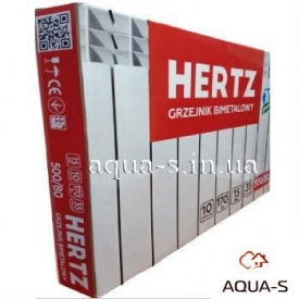 Радіатор біметалевий HERTZ 500х80 для центрального опалення 35 бар 10 секцій