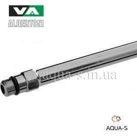 Трубка мідна в хромі Albertoni M10x10 мм для підключення змішувачів 350 мм