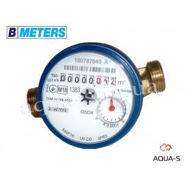 """Счетчик воды одноструйный BMeters GSD8 DN 1/2"""" 2,5 м3/ч до 30°С база 110 мм"""