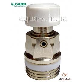 Ручний повітровідвідник з фторопластовим кільцем Caleffi для радіаторів