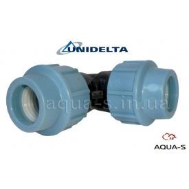 Куточок DN 40x90° Unidelta для поліетиленового трубопроводу