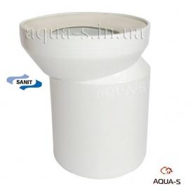Ексцентрик для унітазу пластиковий з поліпропілену PPR 110 SANIT