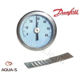 Термометр накладної в металевому корпусі 35 мм 0-60°С Danfoss FHD-T