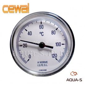 Термометр для отопления фронтальный 0-120°С CEWAL