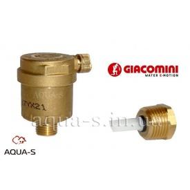 """Повітровідвідник автоматичний для систем опалення з відтинаючим клапаном DN 1/2"""" Giacomini"""