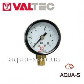 """Манометр з нижнім підключенням 40 мм 1/8"""" 0-10 бар VALTEC VT.TM40.D.01"""