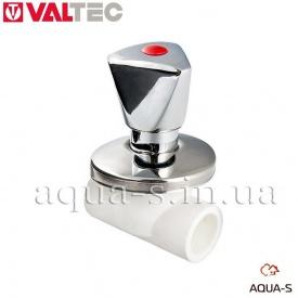 Вентиль полипропиленовый хромированный 25 мм Valtec