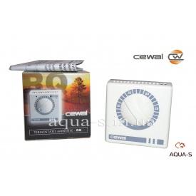 Термостат комнатный Cewal RQ 10 механический с выключателем для отопления