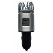 Іонізатор повітря EcoFuture Car Air Purifier з зарядним пристроєм сірий (102)