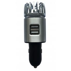 Ионизатор воздуха EcoFuture Car Air Purifier с зарядным устройством серый (102)
