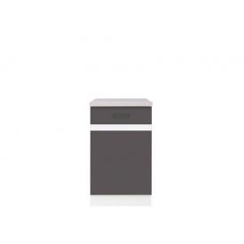Нижний шкаф BRW Junona Line D 1 D/50/82_L Серый вольфрам/Белый/Инканто