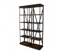 Парні стелажі для зберігання в стилі LOFT (Rack-048)