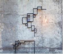 Комплект стіл + настінна полиця в стилі LOFT (Wall Shelf-71)