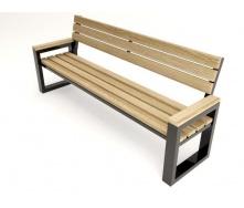 Лавочка парковая в стиле LOFT (Street Bench - 06)
