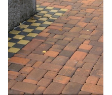 Тротуарная плитка Золотой Мандарин Старый город 120х40 мм сиена