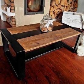 Журнальный столик в стиле LOFT (Table-638)