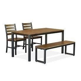 Комплект стіл + лавка + 2 крісла в стилі LOFT (Table-004)