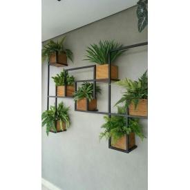 Настенная полка для цветов в стиле LOFT (Wall Shelf-28)