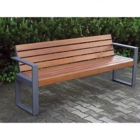 Скамейка парковая в стиле LOFT (Street Bench - 07)