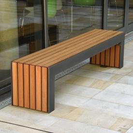 Скамейка садовая в стиле LOFT (Street Bench - 31)