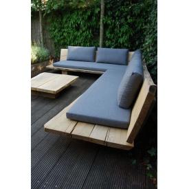 Садовая лаунж лавочка в стиле LOFT (Street Bench - 34)