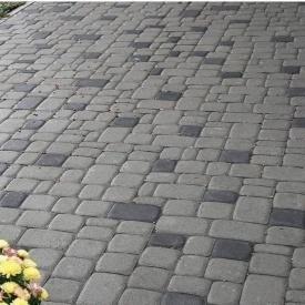 Тротуарная плитка Золотой Мандарин Старый город 120х40 мм серый