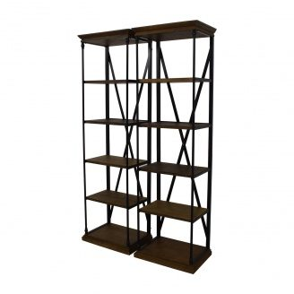 Парные стеллажи для хранения в стиле LOFT (Rack-048)