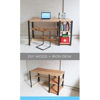 Письмовий стіл в стилі LOFT (Office Table-016)