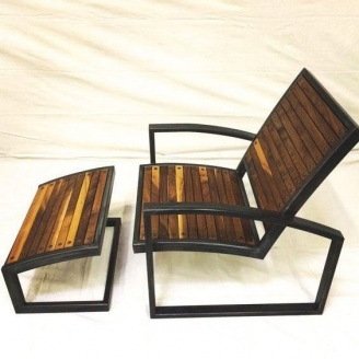 Кресло-Шезлонг в стиле LOFT (Deck chair - 01)