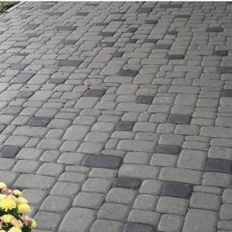 Тротуарна плитка Золотий Мандарин Старе місто 120х40 мм сірий