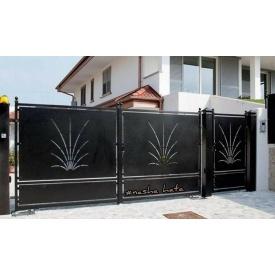 Ворота с декоративной вставкой VD3