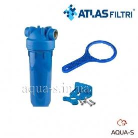"""Фильтр-колба для холодной воды Atlas Filtri DP MONO AB Dn 1"""" 45° 20"""" голубая колба"""