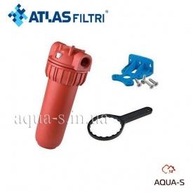 """Фильтр-колба для горячей воды Atlas Filtri Plus Hot 3P 10"""" senior 80° картридж AFP SX"""
