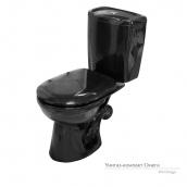 Унітаз-компакт Керамін Омега з жорстким сидінням чорний