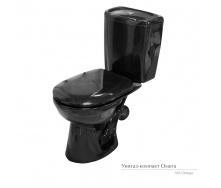 Унитаз-компакт Керамин Омега с жестким сиденьем черный