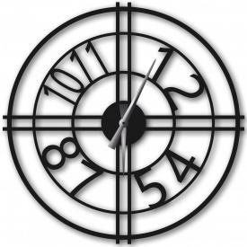 Часы настенные WallArt Bersa черные (WA_Ber_0004)