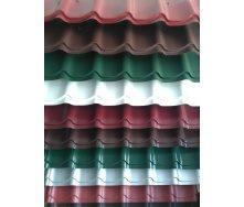 Металлочерепица Монтеррей матовая любой длинны до 9м, 1180 мм/1100 мм