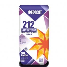 Штукатурка декоративная Ферозит 212/213 Короед зерно 2,0-3,0 мм 25 кг супер-белый