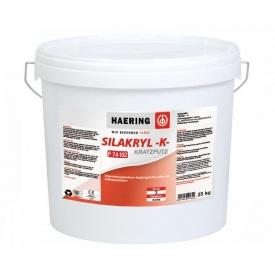 Штукатурка декоративная силоксан-акрилатная weis Silakryl Kratzputz K Шуба зерно 1,0 мм 25 кг