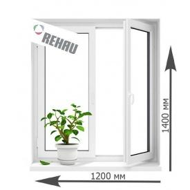 Окно металлопластиковое REHAU Design 70 1200х1400 мм